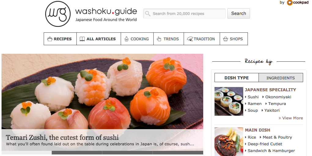 Cookpad launches washokuide a new service introducing japanese chart forumfinder Gallery